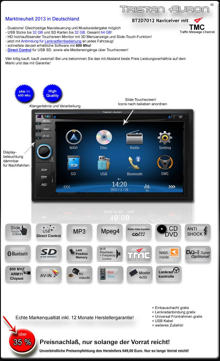 bluetooth autoradio 2 din doppel dvd usb mp3 navi gps ebay. Black Bedroom Furniture Sets. Home Design Ideas