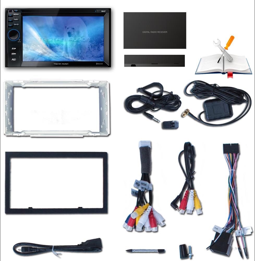 bluetooth autoradio mit bildschirm 2 din doppel dvd usb. Black Bedroom Furniture Sets. Home Design Ideas